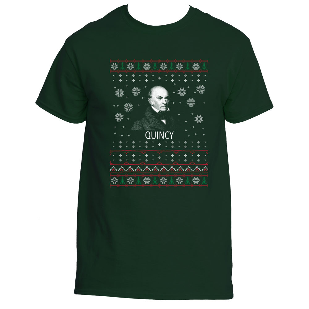 2 Person Christmas Sweater.John Quincy Adams Ugly Christmas Sweater T Shirt