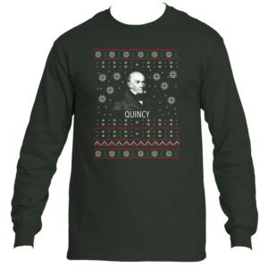John Quincy Adams Ugly Christmas Sweater Long Sleeve T-Shirt