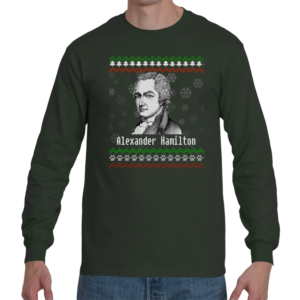 Alexander Hamilton Ugly Christmas Sweater Long Sleeve Shirt